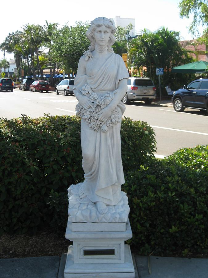 Sarasota Saint Armand's Circle Seven Virtues Statue Flora