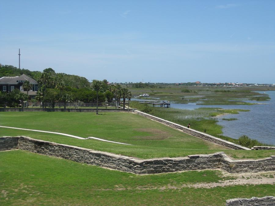 St. Augustine Castillo de San Marcos view to the Atlantic Ocean