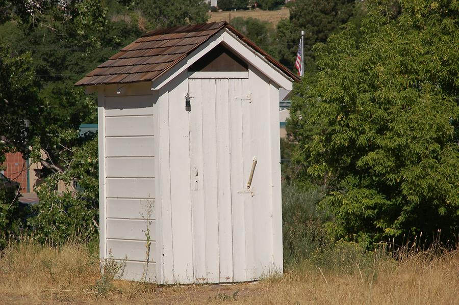 Outhouses also belong to the history of Golden