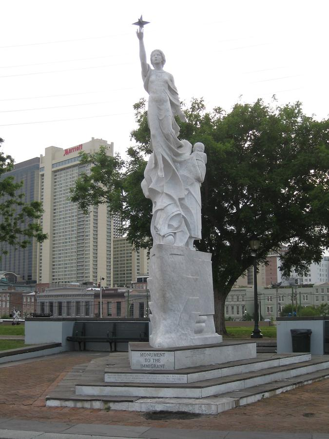 New Orleans Mississippi Waterfront Monument to the Immigrants