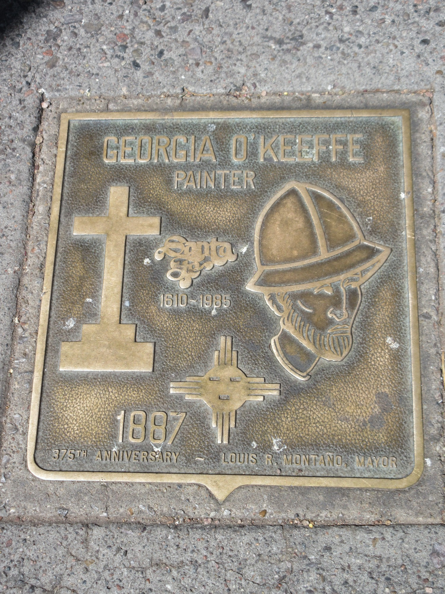 Santa Fe New Mexico Museum Of Art Plaques Of Santa Fe Artist Georgia O Keefee Plaque New Mexico Geography Im Austria Forum