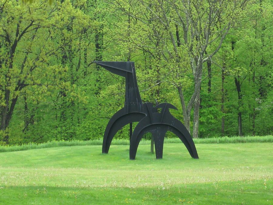 Cornwall-on-Hudson Storm King Art Park Black Flag von Alexander Calder