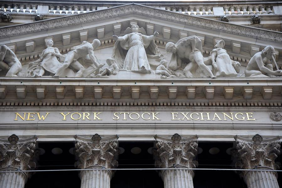 Financial District - Wall Street; Stock Exchange, Detail