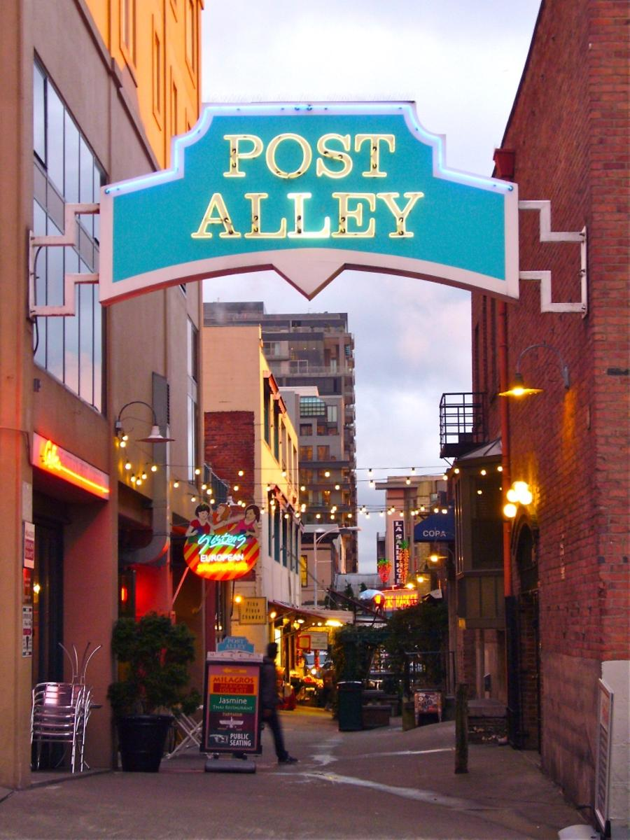 entrance to Post Alley