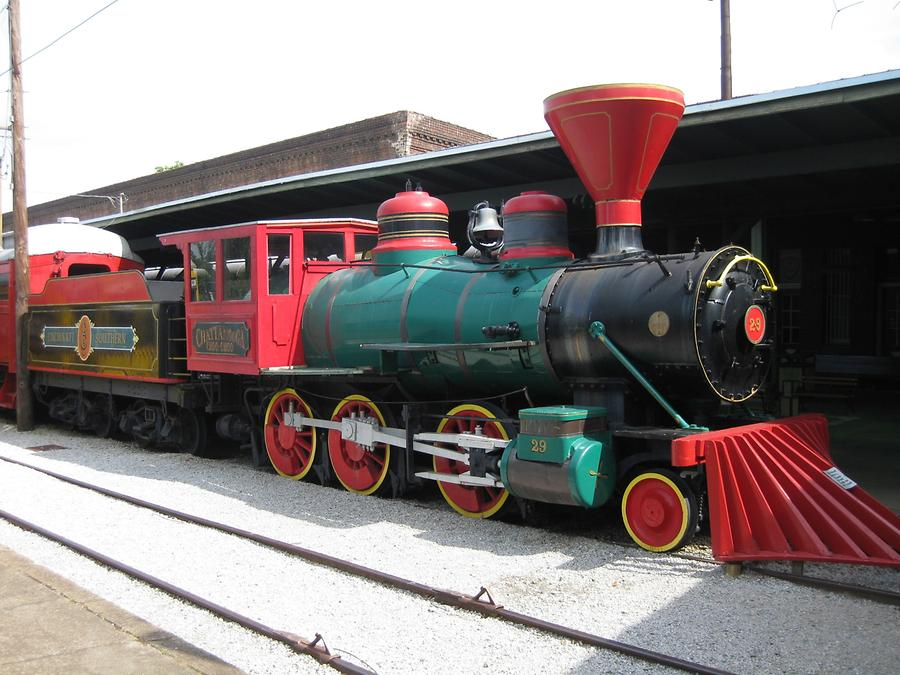 multicolored locomotive