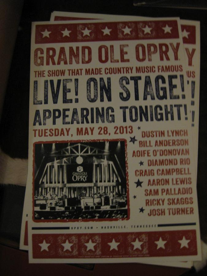 Nashville Grand Ole Opry Live On Stage May 28 2013
