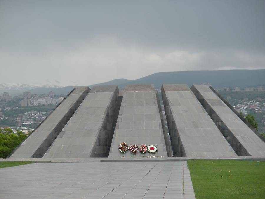 Genocide Memorial with Ararat in the background