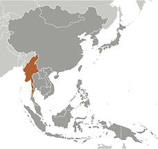 Burma in East And SouthEast Asia