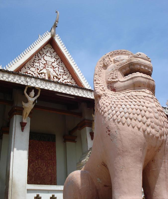A lion-fronted temple
