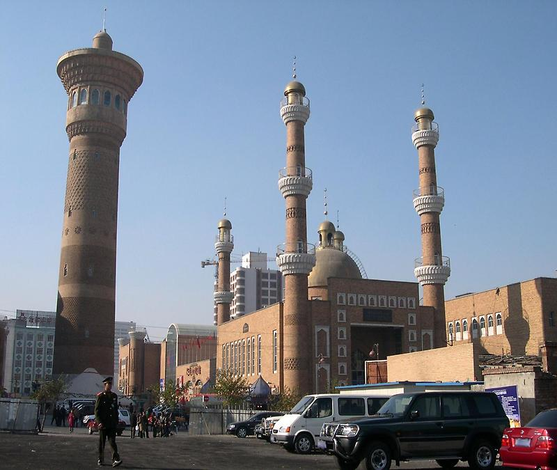 Mosque in downtown Urumqi
