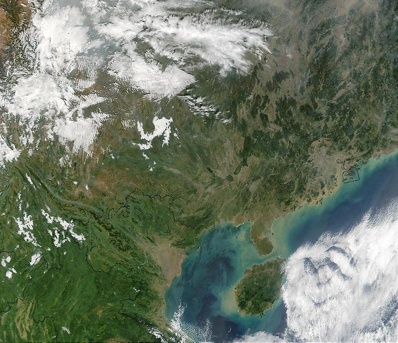 Southern China and the Gulf of Tonkin