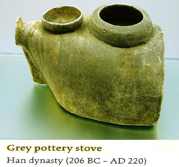 grey pottery stove