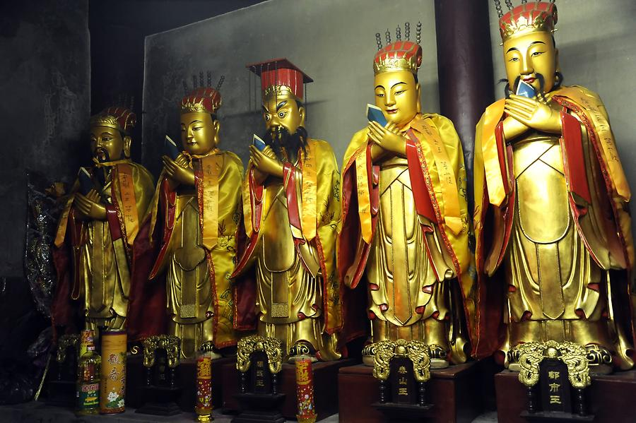 Mount Jiuhua - Tiantai Temple; Guardians