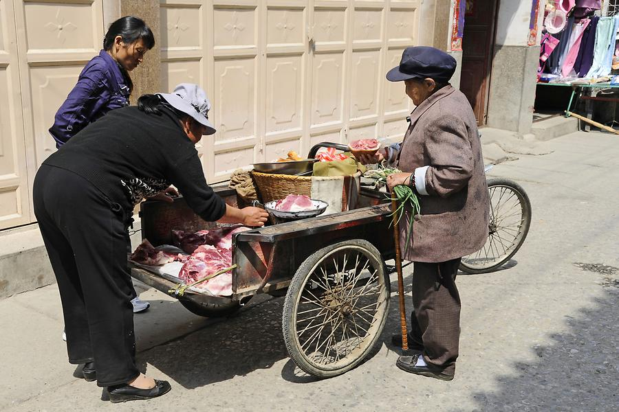 Xizhou - Meat Seller