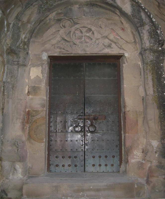 Metal doorway
