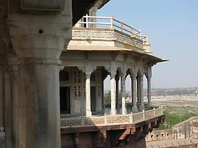 Pillared porch