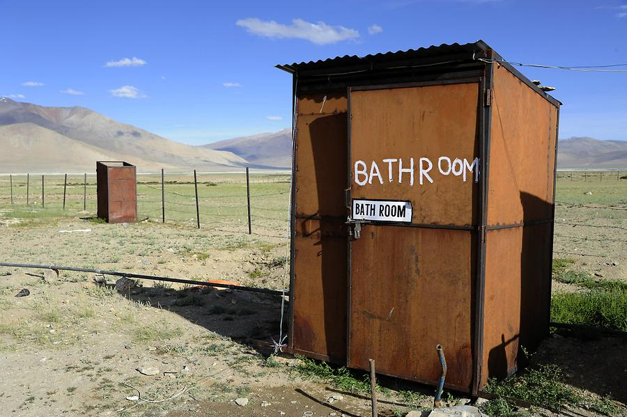 Tso Kar Lake - Camp; 'Bathroom'