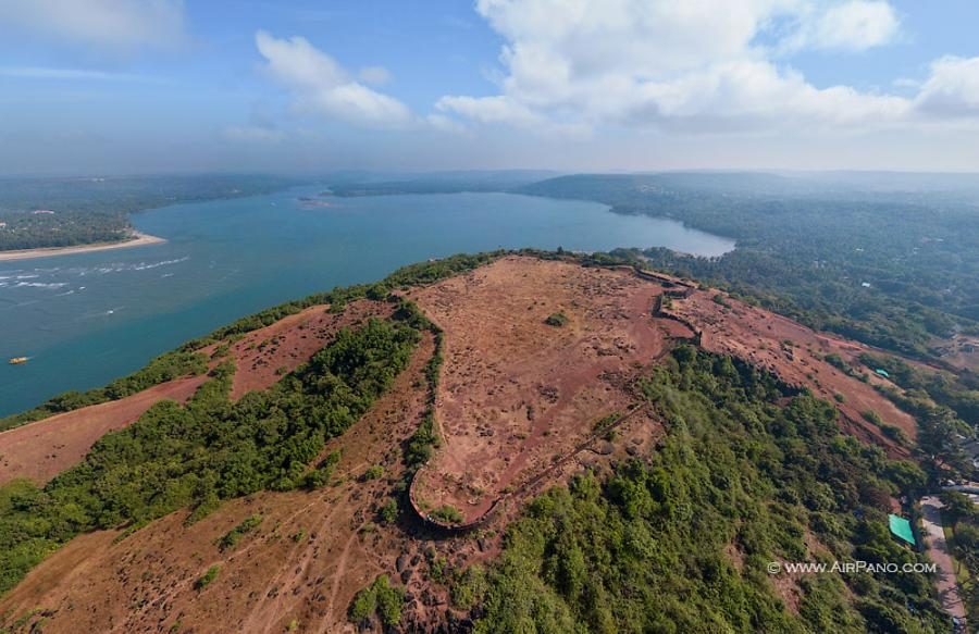 Chapora Fort. Northern Goa, India, © AirPano