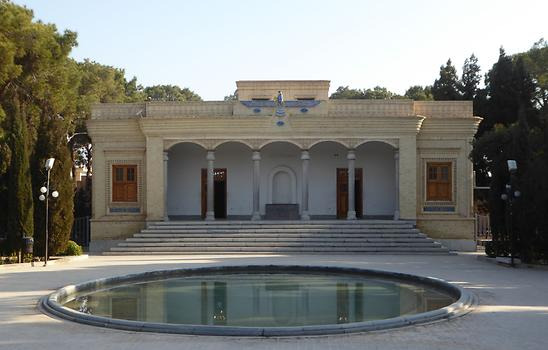 Zoroastrian temple area