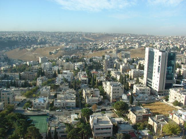 Aerial view of Amman