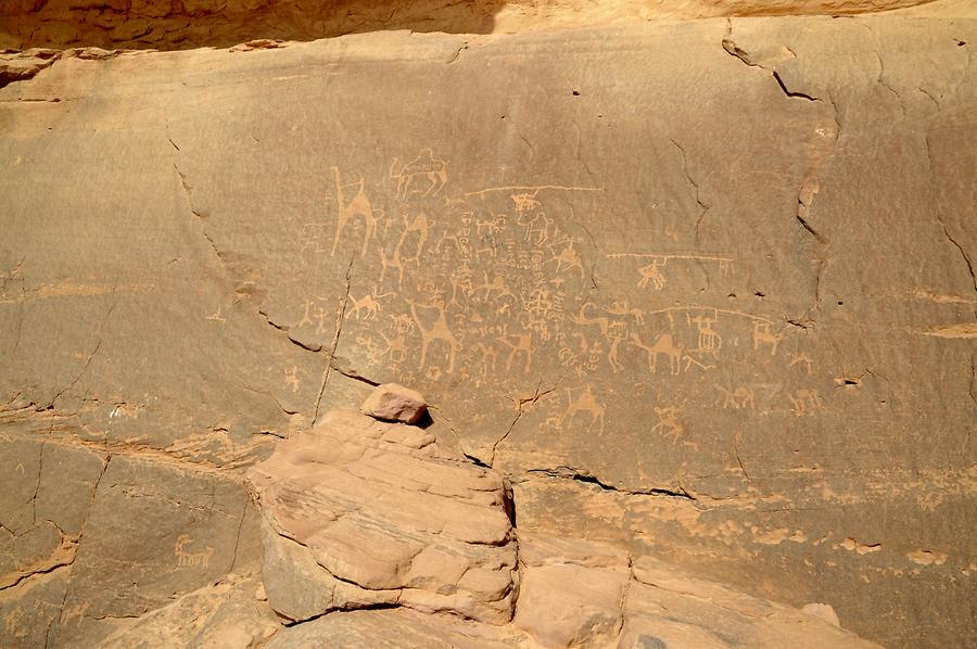 Rock carvings Wadi Rum