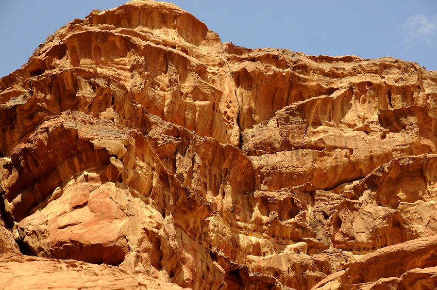 Rock formation Wadi Rum