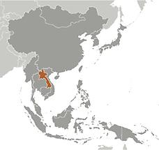 Laos in East And SouthEast Asia
