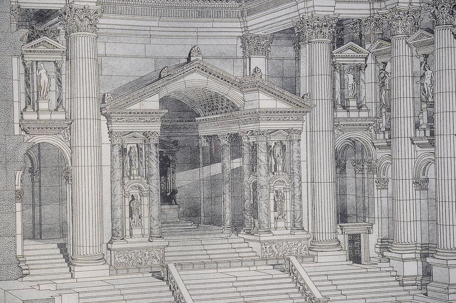 Reconstruction of the Temple of Bacchus