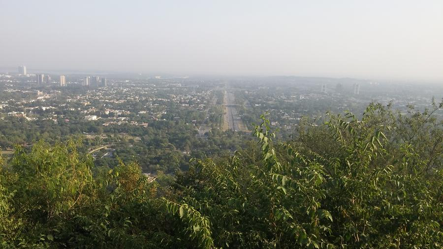 View of Islamabad City from Daman e Koh