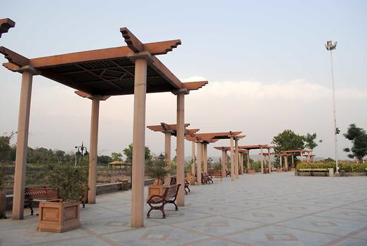 Shades installed near benches, Photo: Raja Nisar Ahmed from Pakistan Tours Guide