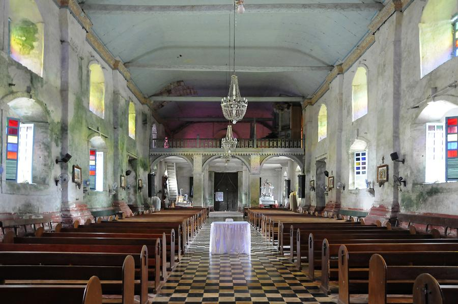 Inside the Baclayon Church