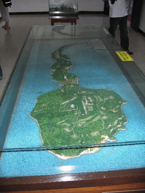 Relief map of Corregidor