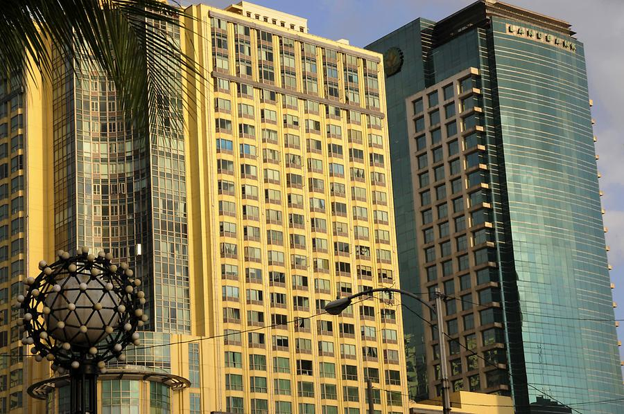 Skyscraper at the Manila Baywalk