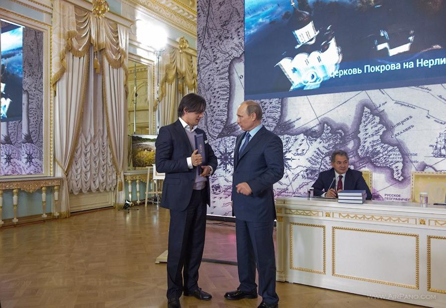 President of Russia V. V. Putin handed AirPano the Grant Certificate from the RGS