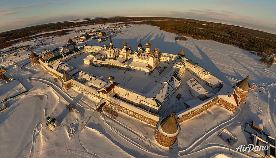 Solovetsky Monastery in winter, © AirPano