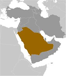 Saudi Arabia in Middle East