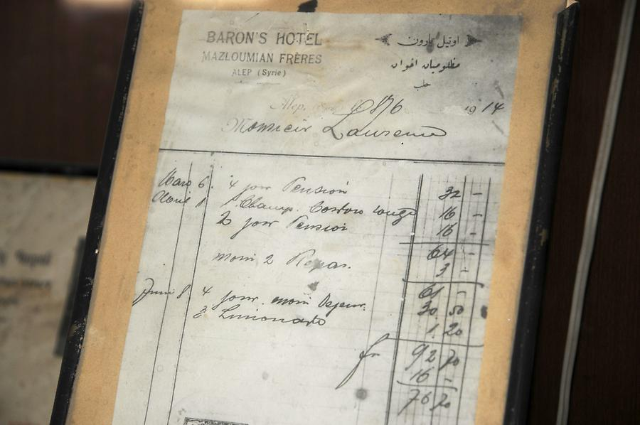 Invoice of Lawrence of Arabia