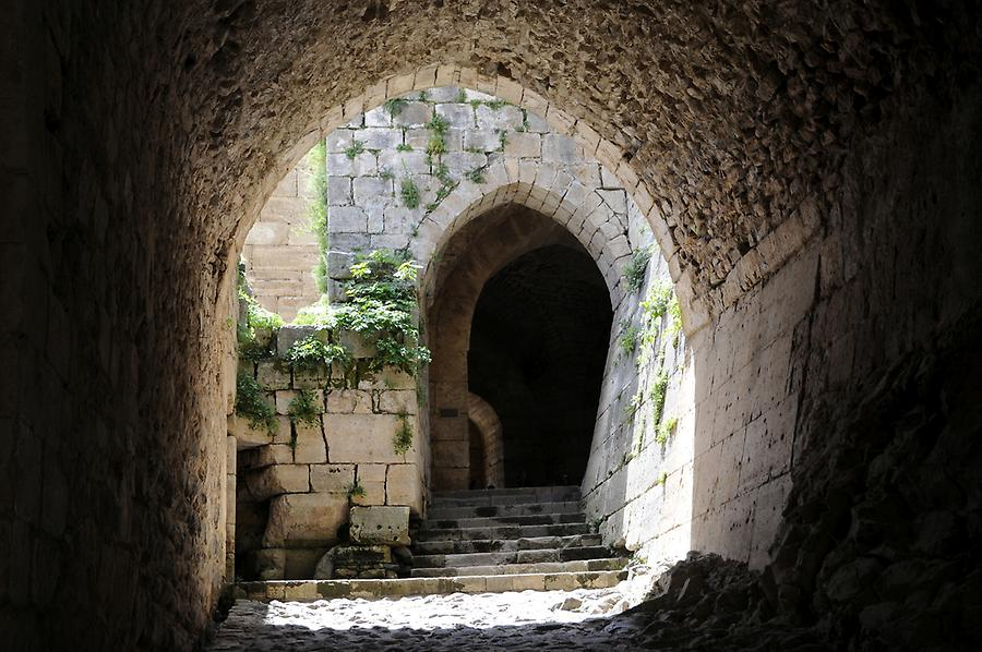 Entrance to the Krak des Chevaliers