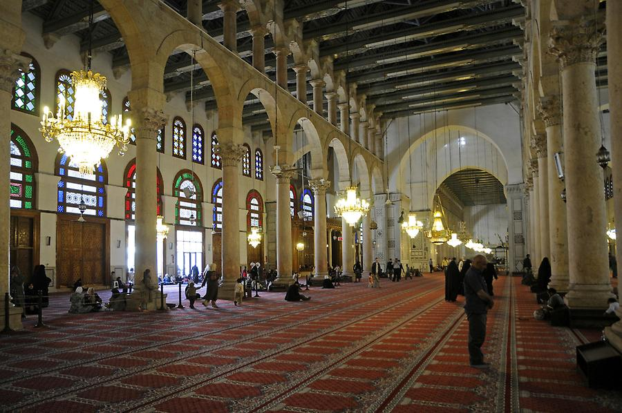 Inside the Umayyad Mosque