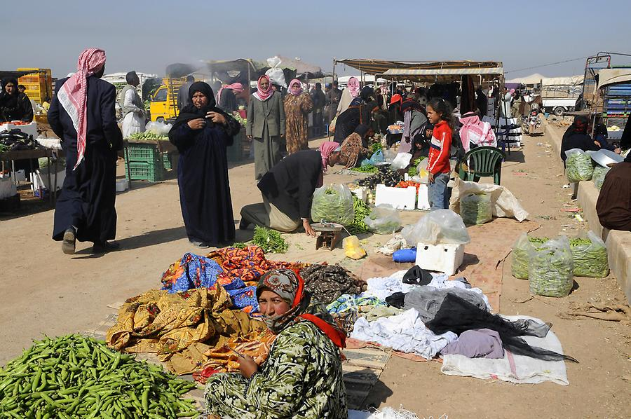 Beduin vegetable market