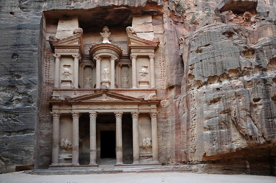 The Treasury in Petra (Jordan)
