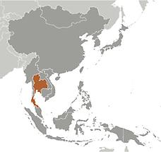 Thailand in East And SouthEast Asia
