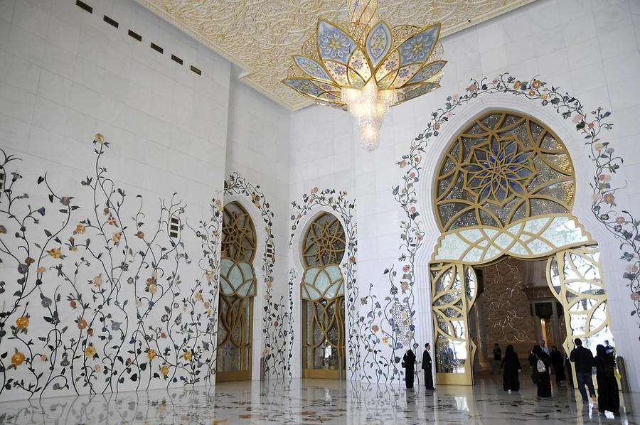 Entrance Sheikh Zayed Grand Mosque