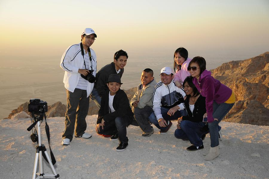 Tourists Jebel Hafeet