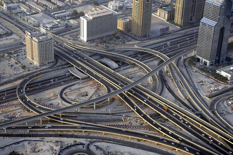 Sheikh Zayed Road Seen from Above