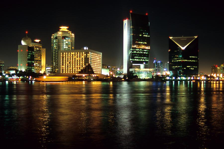 Dubai Creek at Night