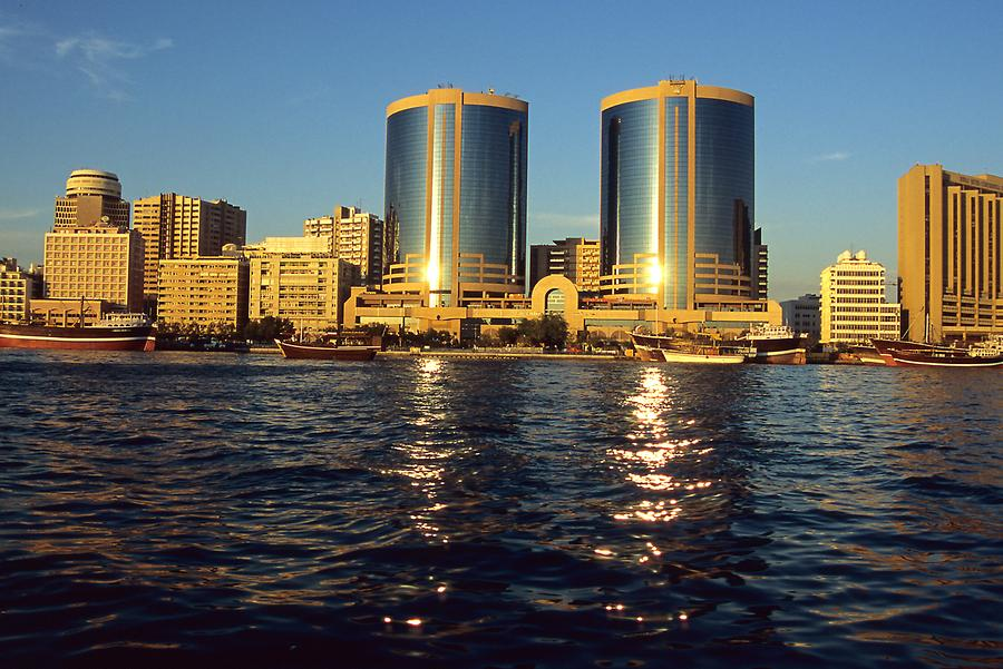 Twin Towers on the Bank of Dubai Creek