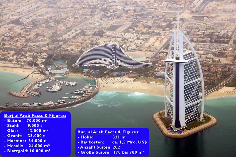 Burj al Arab seen from Above