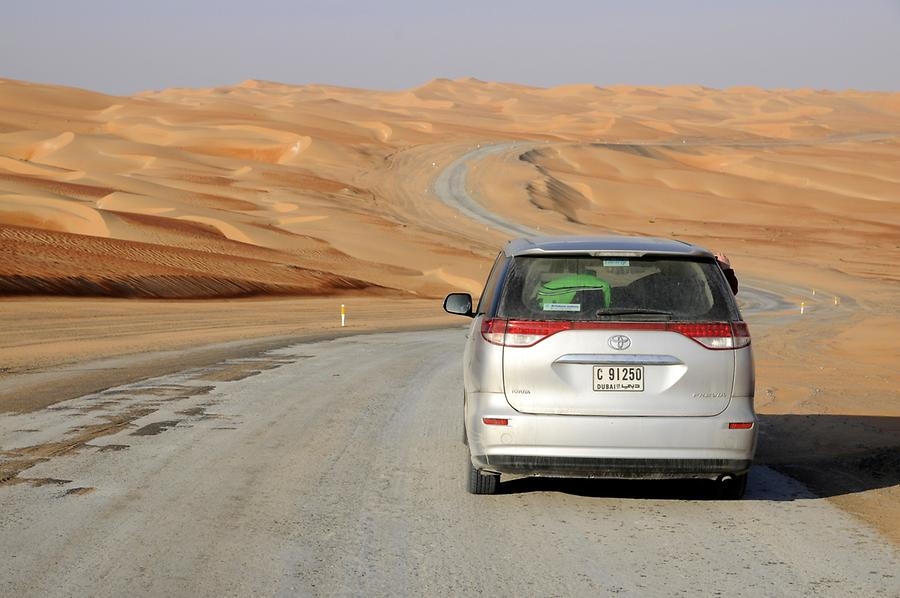 Heading for Qasr al Sarab