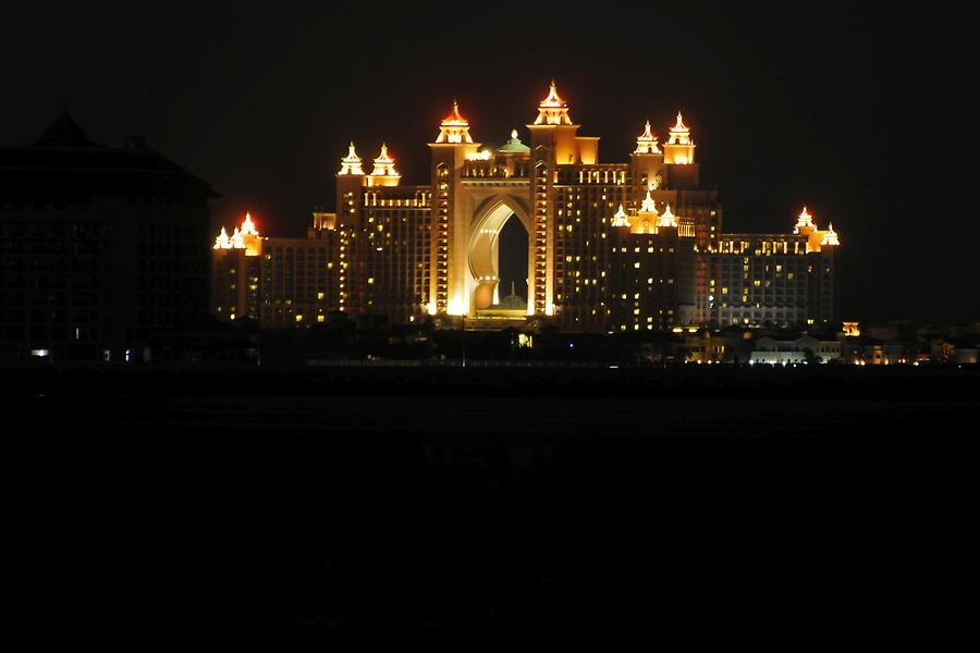 Atlantis Hotel at Night